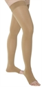 Picture of Anti-Embolism Stocking with Silicone Band 18 mmHg (Open Toe  - Thigh High)(Beige/Large) aka Legwear, Post Surgical Stocking - PRICE REDUCED