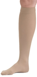 Picture of Microfiber Graduated Compression Stockings 20-30 mmHg (Knee High - Closed Toe)(Beige) aka Legwear, Bell Horn Stockings, Dr. Comfort