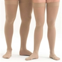 Picture of Microfiber Graduated Compression Stockings 20-30 mmHg Thigh-High Close-Toe (Beige) aka Leg Wear, Dr. Comfort Compression Stockings