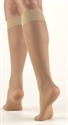 Picture of TheraLite Fashion Compression Stockings 20-30 mmHg (Small)(Knee High Closed Toe)(Nude) aka Bell Horn Stockings, Small Compressive Socks