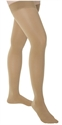 Picture of TheraLite Graduated Compression Fashion Stockings Thigh High Closed Toe Compression Stocking 15-20 mmHg (Beige-Lace Top) aka Legwear, Support Hose, Support Stockings, Dr. Comfort