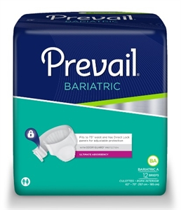 Picture of Prevail® Adult Briefs XX-Large (Bariatric A) (Pack of 12) aka Adult Diaper, XXL Briefs, XXL Diapers, Bariatric Briefs