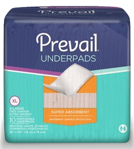 Picture of Prevail® Disposable Super Underpad (30 x 30)(Pack of 10) aka Chux, Prevail Bed Pads