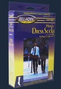 Picture of Men's Dress Socks Graduated Compression 21-25 mmHg (Small/White) aka Compresson Stockings - PRICE REDUCED