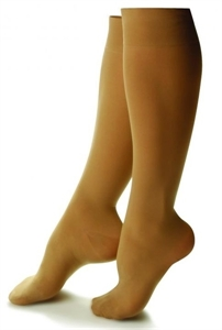 Picture of Bell Horn Stocking Anti-Embolism 18 mmHg Closed-Toe Knee-High (Small/Beige) Dr. Comfort Stockings - PRICE REDUCED