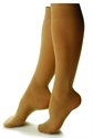 Picture of Bell Horn Stocking Anti Embolism 18 mmHg Closed-Toe Knee-High (Small-Short/Beige) Small Compression Stockings, Compression Socks, Petite Edema Leg Supports, PRICE REDUCED