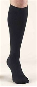 Picture of Bell Horn® Anti-Embolism Stocking 18 mmHg Closed-Toe Knee-High (Black)(Large) aka Large Compression Stockings, Large Edema Stockings, Closed Toe Compression Socks