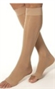 Picture of Bell Horn® Anti Embolism Stocking 18 mmHg (Open Toe - Knee High) (Beige - XXX-Large) aka XXXL Open Toe Compression Stockings, XXXL Compression Socks, Open Toe Edema Socks