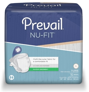 Picture of Nu-Fit®  by First Quality Adult Briefs (X-Large)(Case of 60) aka NuFit Briefs, Incontinence Protection with Tabs, XL Briefs, XL Diapers