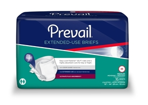 Picture of Prevail® PM Overnight Extended Use Briefs Medium (Case of 96) Prevail Diapers, Prevail Medium