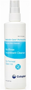 Picture of Bedside Care® Perineal Wash (Formerly Peri-wash II) No Rinse Formula (8oz. Bottle) aka Periwash, no rinse wash, no rinse cleanser, Coloplast Spray, peri wash