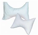 "Picture of Butterfly Rest Pillow (Rosebud Print Cover)(24"" x 18""/8.5"" center) aka Cervical Pillow, Neck Pillow"