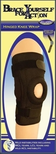 Picture of Brace Yourself For Action Hinged Knee Wrap (Large/X-Large) aka Bell Horn Knee Brace, Large Knee Support, XL Hinged Knee Brace, ACL Knee Brace, CLEARANCE