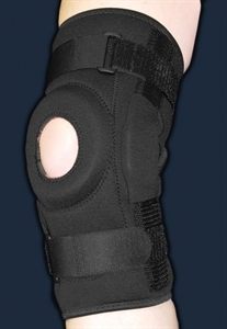 Picture of ProStyle® Hinged Patella Knee Wrap with Donut Buttress (2X/3XL) aka Extra Large Knee Brace, XXL Knee Brace, Clearance