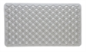 "Picture of Bath Mat with Suction Grips and Anti-fungal treated (16"" x 28"") White, Bathroom Safety, Shower Mat"