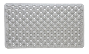 "Picture of Bath Mat with Suction Grips and Anti-fungal treated (16"" x 28"") White, Bathroom Safety, Shower Mat, Bath Safety Items"