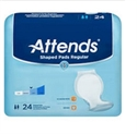 Picture of Attends Shaped Pads SPDR Day Regular (Case of 96) aka Pantiliners, Inserts, Bladder Control Pads