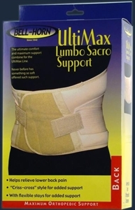 Picture of UltiMax Lumbo Sacro Support (Medium) aka Medium Back Brace, Back Support, Lumbar Support, Clearance Back Support