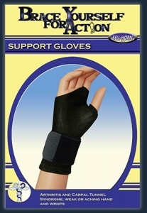 Picture of Brace Yourself For Action Wrist Support Glove (Pair)(Large) aka Large Arthritis Gloves, Carpal Tunnel Glove, Large Wrist Brace, Clearance