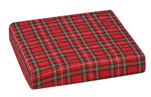 "Picture of Wheelchair Cushion 16""x18""x 3"" (Plaid/Foam) aka 3"" Seat Cushion, Chair Pad, Clearance"