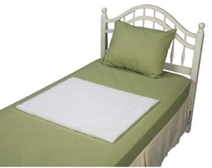 "Picture of Decubitus Bed Pad 24"" x 30"" (White) aka sheepskin bed pad, Ulcer Bedpad, sheepskin pad"