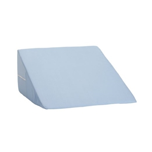 "Picture of Foam Bed Wedge (12""x 24"" x 24"") with Removable Blue Cover, DM802-8028-1900, DM802-8028-0100, formerly 555-8028-0100, 12"" Wedge Cushion, 12"" Bed Wedge, Gurd Pillow, Reflux Pillow, Leg Elevation Pillow"