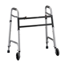 Picture of Heavy Duty Folding Walker with Wheels aka Bariatric Walker with wheels, Nova Walker with Wheels, Heavy Duty Walker with wheels