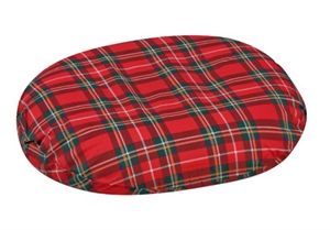 "Picture of Molded Foam Ring Cushion (16"") with Plaid Cover aka 3"" Seat Cushion, Donut Cushion, Wheelchair Cushion, DMI8016, Clearance Seat Cushion"