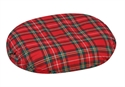 "Picture of Ring Cushion with Removable Plaid Cover (18"") Molded Foam aka Donut Cushion, 3"" Seat Cushion, Wheelchair Cushion, Clearance"