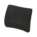 "Picture of Lumbar Back Cushion Standard Contoured Foam with Strap (Black Cover)(14"" x 13"") aka Lumbar Pillow, Chair Cushion, Car Back Support, Lumbar Support, Duro Med 555-7300-0200, Backrest"