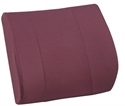 "Picture of Lumbar Back Cushion Relax-A-Bac with Board Insert (14"" x 13"") Burgundy Removable Cover aka Lumbar Cushion, Comfort Back Cushion, Burgundy Back Cushion, Backrest"