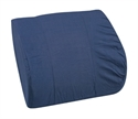 "Picture of Lumbar Back Cushion Relax-A-Bac with Board Insert (14"" x 13"") Navy Blue Removable Cover aka Lumbar Cushion, Comfort Back Cushion, Blue Back Cushion"