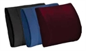 Picture of Lumbar Cushion Contourd Standard Foam with Removable Maroon / Burgundy Cover aka Back Cushion, Chair Cushion, Car Cushion