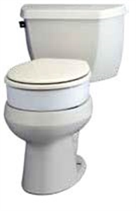 "Picture of Nova Elongated Toilet Seat Riser (each) 3 1/2"" Riser, Elongated Raised Toilet Seat"