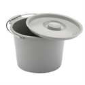 Picture of Nova Bedside Commode Replacement Bucket and Lid (1 each), Replacement Commode Bucket with Lid, Replacement Pail Nova 8450
