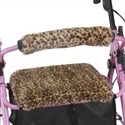 Picture of Nova Rolling Walker Seat and Backrest Cover Set (Safari Cheetah), aka Cheetah Seat Cover Walker, Walker Accessories, Walker Seat Cover, Walker Backrest Cover, Rollator Covers
