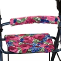 Picture of Nova Rolling Walker Seat and Backrest Cover Set (English Garden- Cotton/poly Blend Fabric), aka Floral Seat Cover Walker, Walker Accessories, Walker Seat Cover, Walker Backrest Cover, Rollator Covers