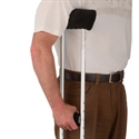 Picture of Nova Crutch Comfort Cover Set (Black Microfiber) aka Crutch Underarm Pad, Crutch Handgrip Cover, Crutch Accessories, Pad for crutches