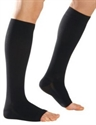 Picture of Microfiber Graduated Compression Stockings 20-30 mmHg (Large)(Knee-High Open-Toe)(Black) aka Legwear, Socks, Dr. Comfort