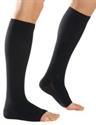 Picture of Microfiber Graduated Compression Stockings 20-30 mmHg (Large)(Knee-High Open-Toe)(Black) aka Legwear, Socks, Dr. Comfort