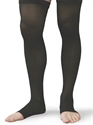 Picture of Microfiber Graduated Compression Stockings 20-30 mmHg (Medium)(Thigh High - Open Toe)(Black) aka Leg Wear, Bell Horn Stockings, Open Toe Socks
