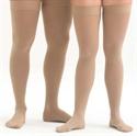 Picture of Microfiber Graduated Compression Stockings 20-30 mmHg (Medium)(Thigh-High Close-Toe)(Beige) aka Leg Wear, Thigh High Compression Stockings