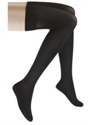 Picture of Microfiber Graduated Compression Stockings 20-30 mmHg (Large)(Thigh High - Closed Toe)(Black) aka Compression Stockings, Bell Horn Stockings, Thigh High Compression Stockings