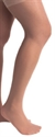 Picture of TheraLite Stockings Graduated Compression 20-30 mmHg (X-Large)(Thigh High - Lace Top - Closed Toe)(Beige) aka Bell Horn Stockings, XL Compression Stockings, Edema Socks