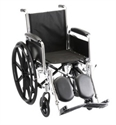 "Picture of Nova 16"" Steel Wheelchair, Fixed Full Arm and Elevating Leg Rests (Nylon Upholstery)"