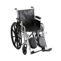 "Picture of Nova 18"" Steel Wheelchair with Desk Arms and Elevating Leg Rests (Vinyl Upholstery)"