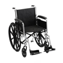 "Picture of Nova 20"" Wheelchair with Full Arms and Swing Away Footrests (Nylon Upholstery)"