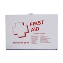 Picture of 25 Person First Aid Kit with Metal Case (features attached wall attachement brackets), Portable First Aid Kit, Office First Aid Kit, School First Aid Kit, Free Shipping