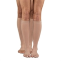 Picture of Dr Comfort Knee High Open Toe Compression Stockings 30-40mmHg (XXL) aka Unisex Compression Stockings, XXL Compression Stockings