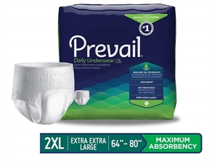 Picture of Prevail® Protective Underwear Super Absorbency XX-Large (Case of 48) Bariatric Underwear, Prevail Daily Underwear XXL